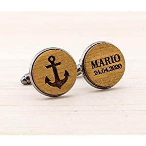Anker Manschettenknöpfe – Geschenk für Ihn – Segeln Geschenk nautisch – Maritime Manschettenknöpfe – Boot-Liebhaber…