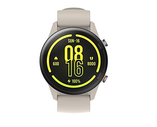 Xiaomi Mi Watch, Orologio Smart, Display AMOLED HD 1.39  , Fino a 16 giorni di autonomia, GPS integrato, 117 modalità fitness, BEIGE, Versione italiana