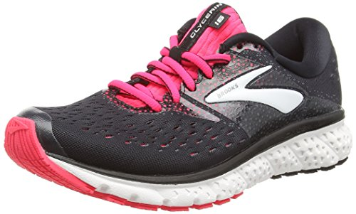 Brooks Womens Glycerin 16 Running Shoe - Black/Pink/Grey - B - 6.0