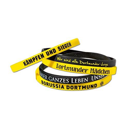 Borussia Dortmund Silikon Armband/Armbänder (5er-Set) BVB 09 - Plus gratis Aufkleber Forever Dortmund