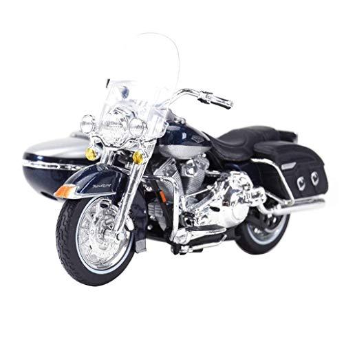 KJAEDL Modelo de Coches para niños Triciclo de Motocicleta Modelo de la Motocicleta Harley 1:18 Locomotora simulación de aleación colección de Juguete de Regalo.Tamaño: 13x11x5.5cm (Color : Bl