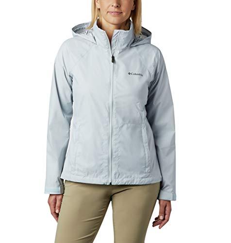 Columbia Women's Switchback III Adjustable Waterproof Rain Jacket, Spring Blue, Large
