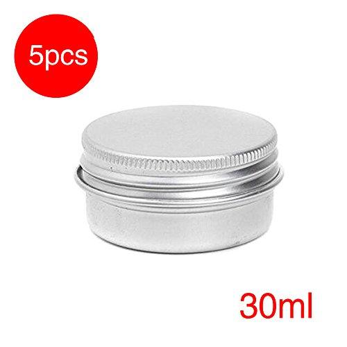 cosm/étiques avec couvercle /à visser et rev/êtement en polypropyl/ène 20G//0.7oz blanc 6/pots vides de recharge en plastique blanc pour maquillage