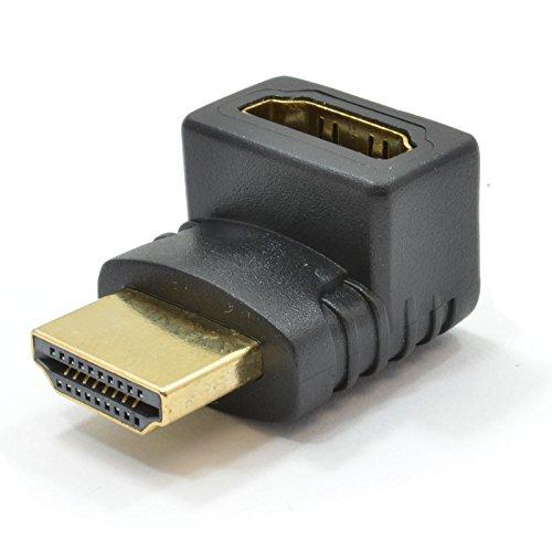 HDMI Femenino Enchufe A Derecho ángulo HDMI Clavija Adaptador Convertidor