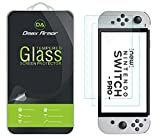 (2 Pack) Dmax Armor Designed for Nintendo Switch OLED 2021 Tempered Glass Screen Protector