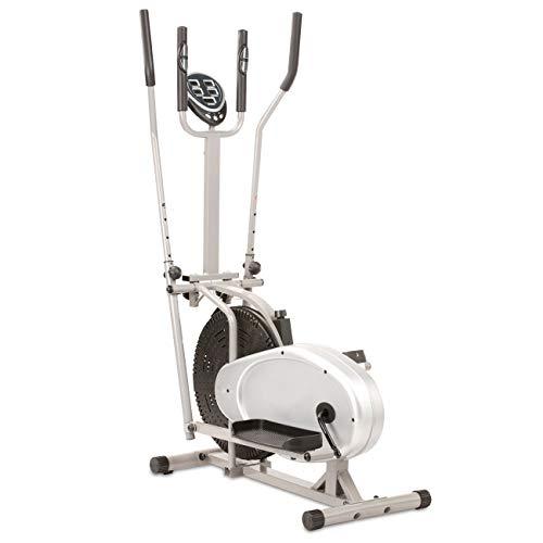 maxVitalis Crosstrainer für gelenkschonendes Ausdauertraining mit rutschfesten Trittflächen inkl. Trainingscomputer bis 110 kg