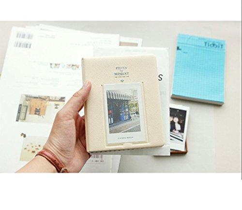 Heylookhere Mini Polaroid en Name Card Fotoalbum [64 vellen kunnen worden ingevoerd](Beige)