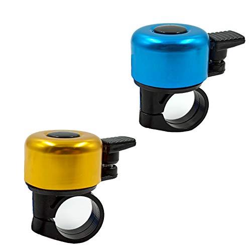 NA/ Lot de 2 sonnettes de vélo classiques en alliage d'aluminium - 2 couleurs - Pour la plupart des...