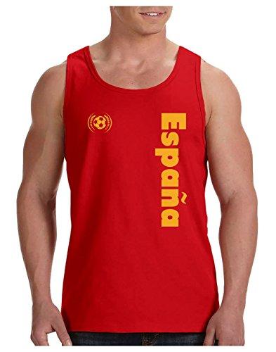 Green Turtle T-Shirts Camiseta de Tirantes Hombre - Apoya a la selección Española en el Mundial de Fútbol! Medium Rojo