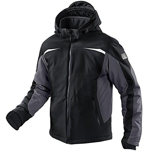 KÜBLER winter softshell jas vorm 1041 zwart/antraciet maat XL 96% PE/4% EL.