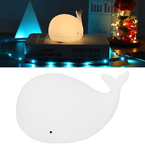 QIRG Luz de Dormitorio, Linda lámpara de Forma de Ballena Suave Recargable por USB Hermosa para bebés Niños para Sala de bebés para Sala de Estar Dormitorio para niñas