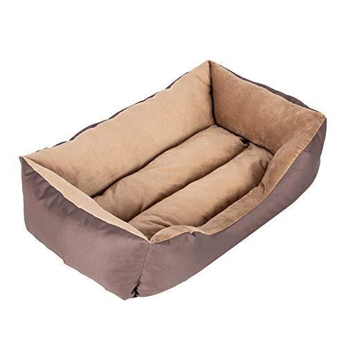 Zuoox Cama de perro para gato, cama grande, colchón de perro lavable, cama para mascotas con algodón suave de polipropileno para Dods y gatos