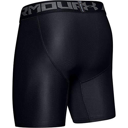 Under Armour Men's HeatGear Armour 2.0 6-inch Compression Shorts, Black (001)/Graphite, X-Large