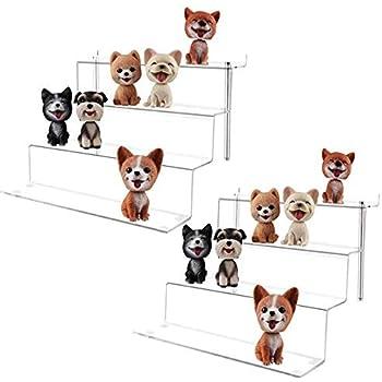 LileZbox - Soporte expositor de acrílico para figuras Funko Pops Amiibo, estante grande de 4 pasos para postres, 12 x 11 x 8,8 pulgadas, 2 unidades: Amazon.es: Hogar