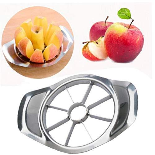 Angoter Birnen-Schnitt Slicer Corers Edelstahl-Frucht-Easy Cutter Divider Peeler Aufbisseinsatz für Kinder Küche Gadget MA25