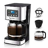 Taylor Swoden Darcy - Macchina da caffè 950W con filtro riutilizzabile e piatto base caldo, capacità 1,5 litri, sistema antigoccia, timer, senza BPA, nero