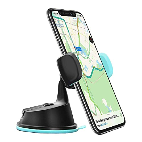 SpawNic® 360-Degree Rotating Car Holder for Car AC Vent and Dashboard |Car Mobile Phone Holder| Car AC Vent Holder| Sticky Gel Suction Cup for Car| Windshield Car Vent and Dashboard-Black