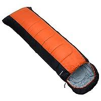 MERMONT 封筒型 寝袋 (オレンジ) シュラフ 圧縮袋付き 丸洗い コンパクト 軽量 アウトドア キャンプ 登山 車中泊 防災 災害 冬用 夏用 スリーピングバッグ