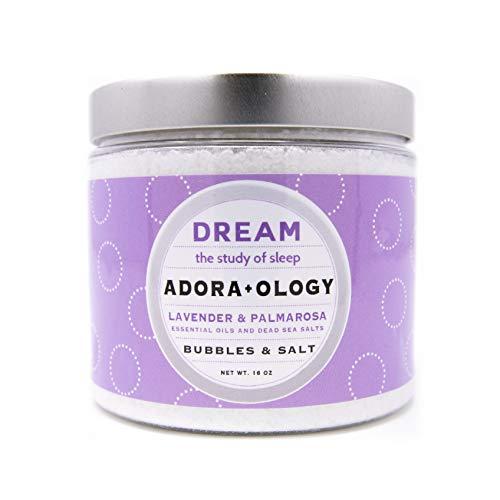 Dream Best Adora+Ology Aromatherapy Bubbles and Bath Salt, Lavender Palmarosa Bubble Bath, Epsom Salt and Skin Moisturizer Infused with Essential Oils