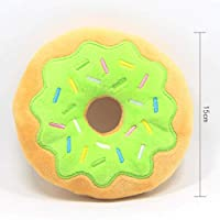 ハンバーガーぬいぐるみ柔らかいぬいぐるみきしむおもちゃフライドポテト小さな大型犬のためのかみ傷耐性のあるおもちゃペットアクセサリー-緑