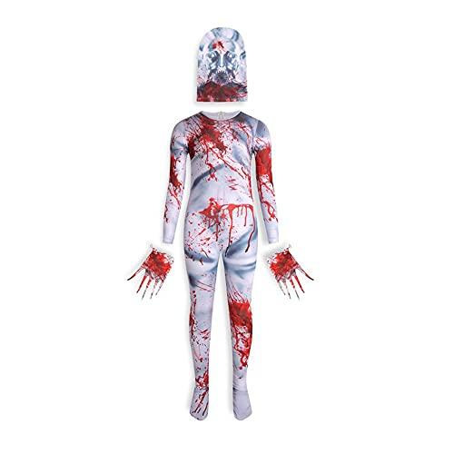 huayuwy Nios SCP 096 Disfraz Nias Nios Scary Shy Guy Mono Body Escultura Espeluznante Monstruo Cosplay Mono para Fiesta de Carnaval de Halloween, Conjunto Completo