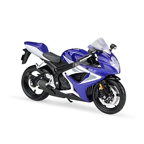 Juguete De La Motocicleta para GSXR750 Modelo De Motocicleta Azul Escala 1:12 Modelos De Fundición A Presión De Metal Bicicleta De Motor Juguete De Carrera En Miniatura