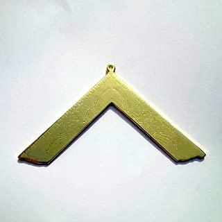 Masonic Worshipful Master Chain Collar Jewel Golden Finish