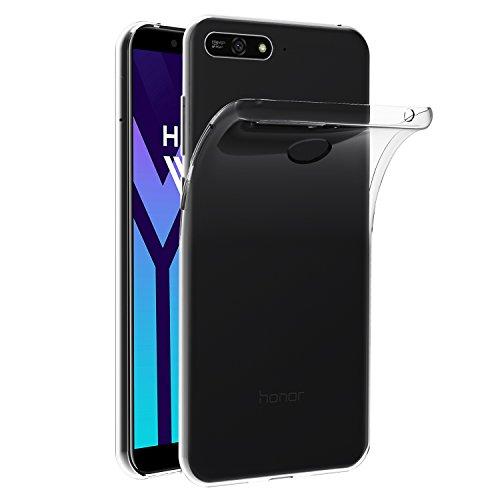 ivoler Hülle Hülle Kompatibel für Huawei Y6 2018 / Huawei Honor 7A, Premium Transparent Klare Tasche Schutzhülle Weiche TPU Silikon Gel Handyhülle Schmaler Cover