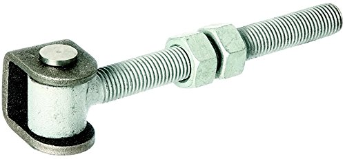 GAH-Alberts 418366 Torband mit Muttern, feuerverzinkte Augenschraube, Verbindungsbolzen und Sicherungsring aus Edelstahl, Gewinde: M16