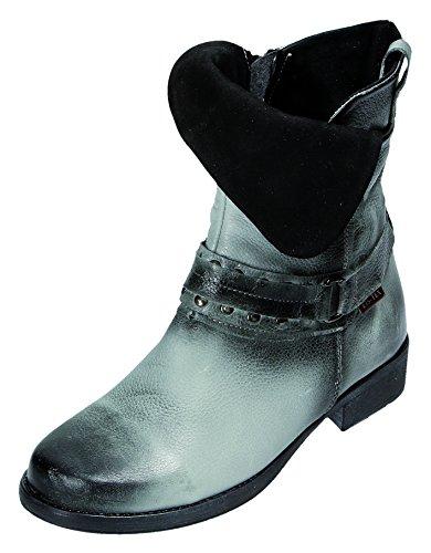 Miccos Shoes Damen Stiefel/Stiefelette D.RV-Stiefel in schwarz-grau, Größe 38.0,