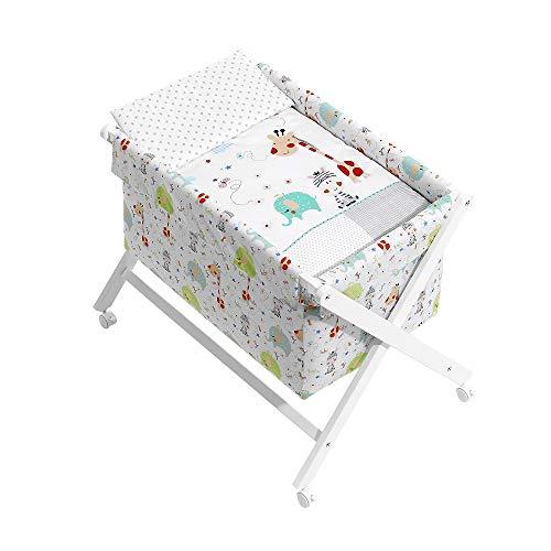 Interbaby 92122-01-09 Babywiege Modell Dschungel, weiß, 8.06 kg