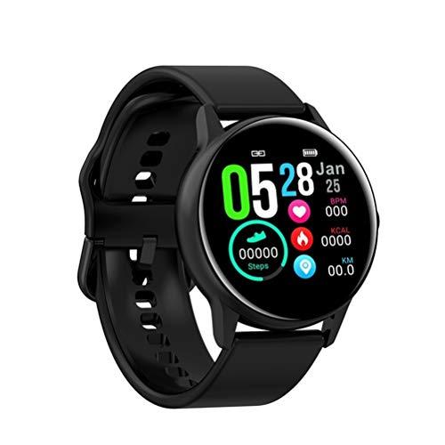 RongWang Reloj Inteligente para Hombre, pasómetro Deportivo, Pulsera IPS, frecuencia cardíaca, presión Arterial, oxígeno, IP68, Reloj Inteligente a Prueba de Agua (Color : Black 1)