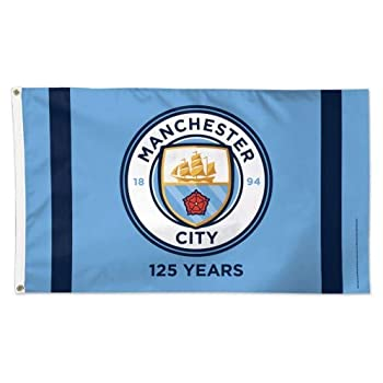 WinCraft Manchester City 125 Years Deluxe 3 x 5 Foot Flag