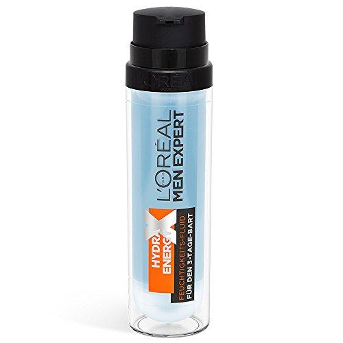 L'Oréal Men Hydra Energy Xtreme Feuchtigkeitscreme 3-Tage-Bart - Pflege für Bart und Gesicht, 50 ml
