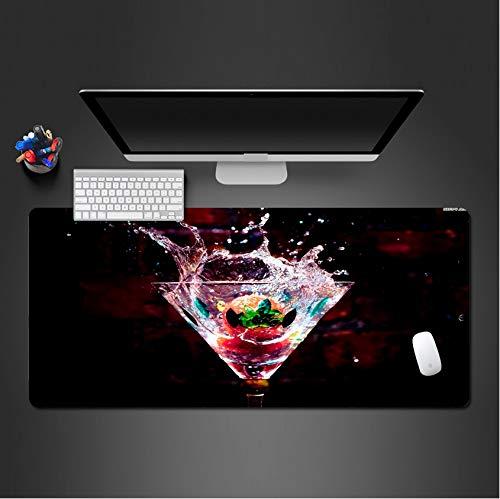 sxkdyax Bild Der Fruchtwein Mauspad Waschbar Pc Spiel Mauspad Computer Tastatur Pad Gaming Mauspad Für Player-80Cmx40Cm