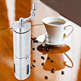 Molino de café en grano, molinillo de café en grano manual, café compacto para el hogar suministros herramientas para hacer café