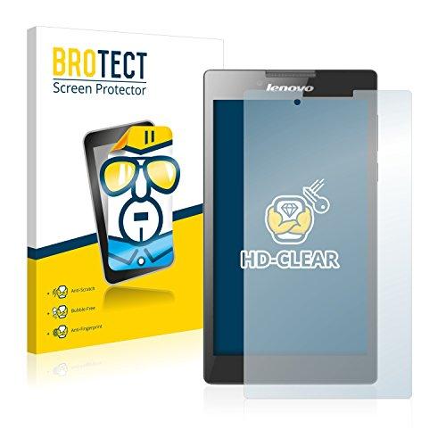 BROTECT Schutzfolie kompatibel mit Lenovo Tab 2 A7-30 (Kamera Links) (2 Stück) klare Bildschirmschutz-Folie