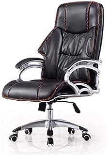 HIZLJJ Ejecutivo giratoria ajustable silla giratoria de oficina con brazos soporte lumbar escritorio silla ergonómica inclinación ergonómica Escritorio Silla de oficina Silla de ordenador principal re