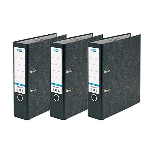 Elba, A4 Lever Arch Files, Black, 3 Folders