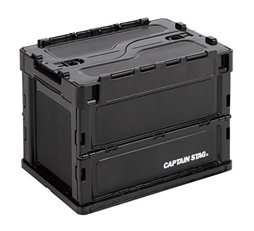 【Amazon.co.jp 限定】 キャプテンスタッグ(CAPTAIN STAG) オリコン 折りたたみコンテナ FDコンテナ ロックフタ付き 容量20L 幅365×奥行265×高さ285mm 収納時厚さ85mm 日本製 ブラック UL-1068