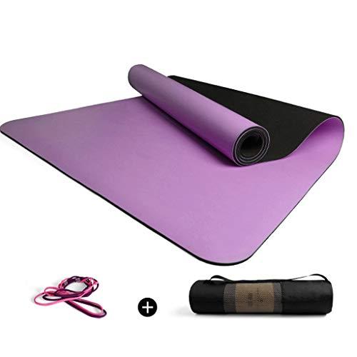 hsj LF- Esterilla de yoga de goma natural para principiantes (68 cm, gruesa)
