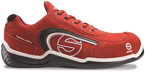 Zapatilla de Seguridad SPARCO A3 Sport-Low Rojo • Botas y Calzado de Seguridad Sparco • Color : Rojo • Talla 40 EU