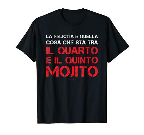 """Hombre Camiseta de manga corta para hombre con texto en inglés """"Quinto Mojito"""" Camiseta"""