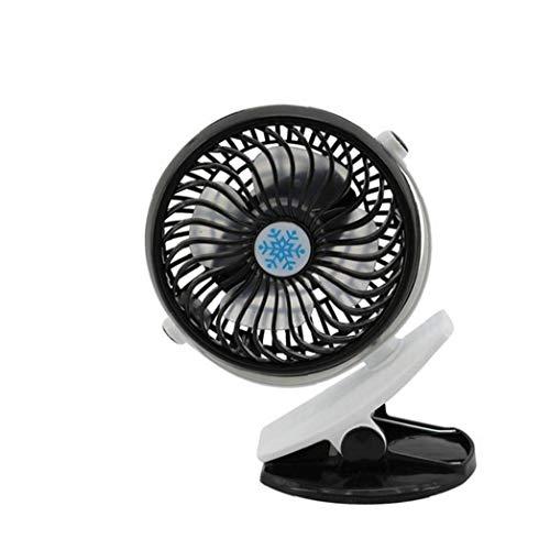 Portátil de pequeño clip del ventilador creativo giratorio de 360 ??grados ventilador de escritorio pequeños ventiladores de mesa USB recargable Handheld Ventilador Negro