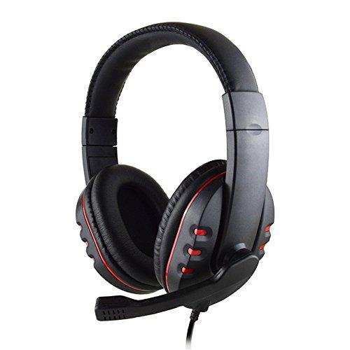 professionnel comparateur Casque gaming stéréo filaire bon marché avec microphone pour PS4 3,5 mm (rouge) choix