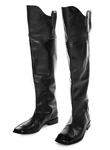 Supreme Products Edle historische US Kavallerie Stiefel aus Leder - Schwarz ( Größe 41)