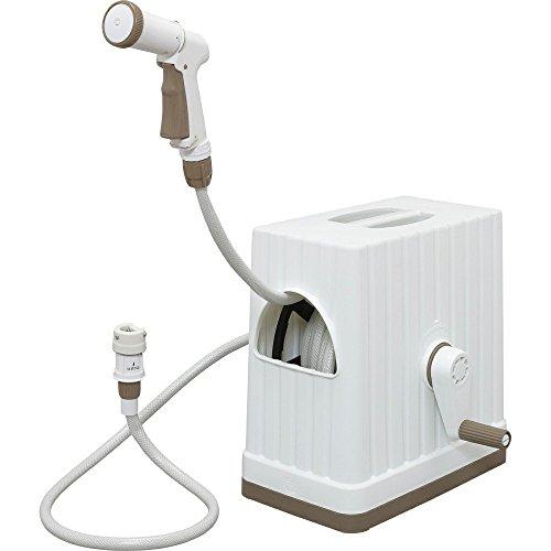 アイリスオーヤマ ホース リール フルカバーホースリールEX 20M FHEXN-20 ホワイト 水やり 洗車 掃除 巻き取りやすい