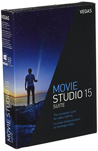 VEGAS Movie Studio 15 Suite|15|1|0|Microsoft Windows 7/8/10, 64 bits|Disque
