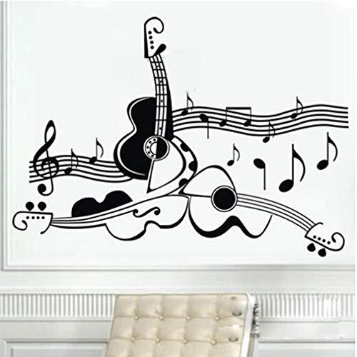 etiqueta de la pared Original Design Guitar Instrument Music Training Room Stave Affixed Stickers for music room living room