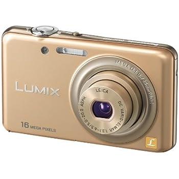パナソニック デジタルカメラ ルミックス シャインゴールド DMC-FH7-N